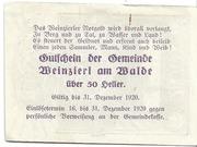 50 Heller (Weinzierl am Walde) – revers