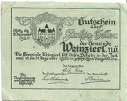 50 Heller (Weinzierl bei Wieselburg) – avers