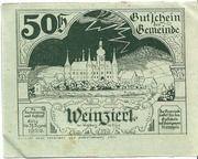 50 Heller (Weinzierl bei Wieselburg) – revers