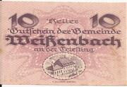 10 Heller (Weissenbach) – avers