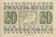 20 Heller (Weissenbach) – avers