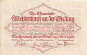 20 Heller (Weissenbach) – revers