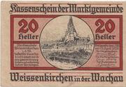 20 Heller (Weissenkirchen in der Wachau) – avers