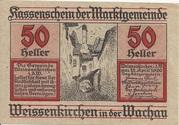 50 Heller (Weissenkirchen in der Wachau) -  avers