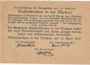30 Heller (Weissenkirchen) – revers