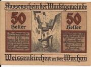 50 Heller (Weissenkirchen in der Wachau) – avers