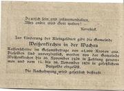 10 Heller (Weissenkirchen) – revers