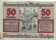 50 Heller (Weissenkirchen) – avers