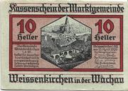 10 Heller (Weissenkirchen) – avers