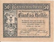 50 Heller (Weitra) – avers