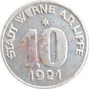 10 pfennig - Werne a. d. Lippe – avers