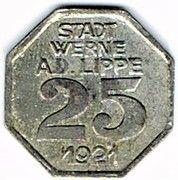 25 pfennig - Werne a. d. Lippe – revers