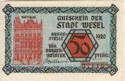 50 Pfennig (Wesel) – avers