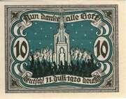 10 Pfennig (Stadt Marienburg West Pr.) – revers