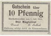 10 Pfennig (Bischofswerder) – avers