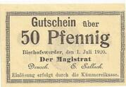 50 Pfennig (Bischofswerder) – avers