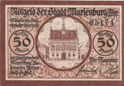 50 Pfennig (Marienburg) – avers