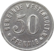 50 pfennig - Westerholt – avers