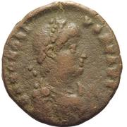 Nummus - Honorius (VIRTVS EXERCIT; Antioch mint)) -  avers