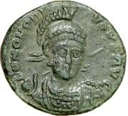 Follis - Honorius (CONCORDIA AVGG, Constantinople) -  avers