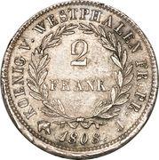 2 frank Jérôme Bonaparte – revers