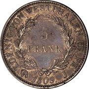 5 frank Jérôme Bonaparte – revers