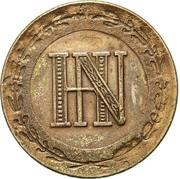 2 centimes Jérôme Bonaparte – avers