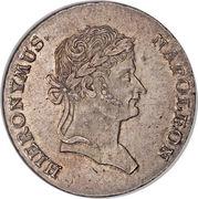 1 thaler de convention Jérôme Bonaparte – avers