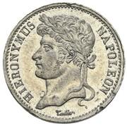 20 frank Jérôme Bonaparte (Frappe essai en étain) – avers