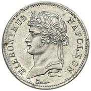 40 frank Jérôme Bonaparte (Frappe essai en étain) – avers