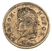 5 frank Jérôme Bonaparte (Frappe essai en cuivre) – avers