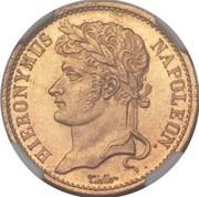 20 frank Jérôme Bonaparte (Frappe essai en bronze-aluminium) – avers