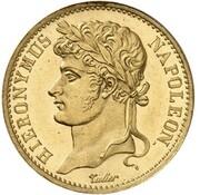 20 frank Jérôme Bonaparte (Refrappe) – avers