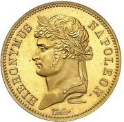 40 frank Jérôme Bonaparte (Refrappe) – avers