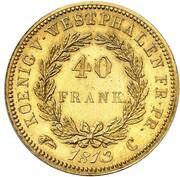40 frank Jérôme Bonaparte (Refrappe) – revers