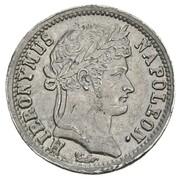 1 frank Jérôme Bonaparte (Frappe essai en plomb) – avers