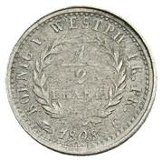 ½ frank Jérôme Bonaparte (Frappe essai en nickel) – revers