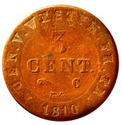 3 centimes Jérôme Bonaparte – revers