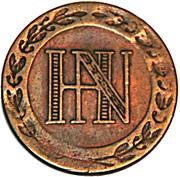 5 centimes Jérôme Bonaparte – avers