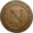5 centimes Napoléon Ier (Strasbourg) – avers