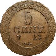 5 centimes Napoléon Ier (Strasbourg) -  revers