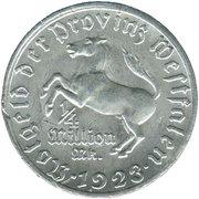 ¼ million mark - Westfalen (Freiherr vom Stein) – avers