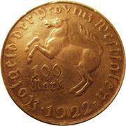 100 mark - Westfalen (Freiherr vom Stein) – avers
