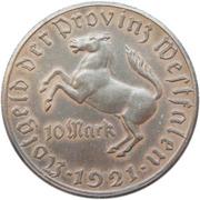 10 mark - Westfalen (Freiherr vom Stein) – avers