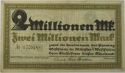 2,000,000 Mark (Landesbank der Provinz Westfalen) – avers