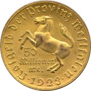 50 millions de marks - Westfalen (Freiherr vom Stein) – avers