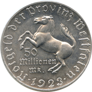 50 millions Mark - Westfalen (Freiherr vom Stein) – avers