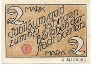 2 Mark (Dorsten) – avers
