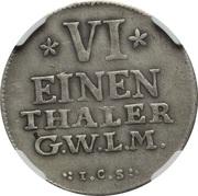 ⅙ Thaler - Friedrich Alexander – revers