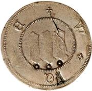 3 Pfennig (Präsenzzeichen; Countermarked) – avers